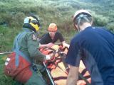 Casualty handed over to RAF